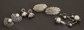 Silver Smalls:Other , A GROUP OF FOUR MEXICAN SILVER EARRINGS. William Spratling, Taxco, Mexico, circa 1940. Marks: WS (sans-serif), SPRATLI... (Total: 8 Items)