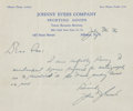 Baseball Collectibles:Others, 1936 Johnny Evers Handwritten Signed Letter....