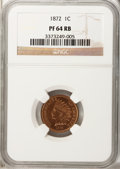 Proof Indian Cents: , 1872 1C PR64 Red and Brown NGC. NGC Census: (50/51). PCGS Population (112/72). Mintage: 950. Numismedia Wsl. Price for prob...