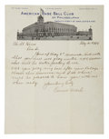 Autographs:Letters, 1918 Connie Mack Handwritten Signed Letter & Signed Envelope....