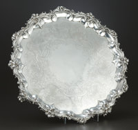 A VICTORIAN SILVER SALVER William Ker Reid, London, England, 1839-1840 Marks: (lion passant), (leopard's head)