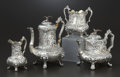 Silver & Vertu:Hollowware, A VICTORIAN SILVER AND SILVER GILT TEA AND COFFEE SERVICE. James Charles Edington, London, England, 1849-1850. Marks: (lion ... (Total: 4 Items)