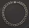 Silver Smalls:Other , A MEXICAN SILVER NECKLACE. Héctor Aguilar, circa 1940. Marks:HA, 940, TAXCO. 18-1/2 inches long (47.0 cm). 3.65 troyou...