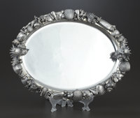 AN ITALIAN SILVER TRAY Gianmaria Buccellati, Bologna, Italy, after 1970 Marks: M (crown) C, 925</