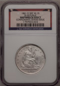 Seated Half Dollars, 1861-O 50C CSA Obv, S.S. Republic Shipwreck Effect, ConfederateStates Issue NGC. W-15. Includes box, case and certific...