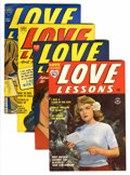 Golden Age (1938-1955):Romance, Love Lessons #2-5 File Copy Group (Harvey, 1949-50) Condition:Average NM-.... (Total: 4 Comic Books)