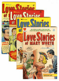Golden Age (1938-1955):Romance, Love Stories of Mary Worth #1-4 File Copy Group (Harvey, 1949-50)Condition: Average VF.... (Total: 4 Comic Books)
