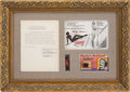 "Movie Posters:Miscellaneous, Marilyn Monroe Signed Agreement (Marilyn Monroe Productions, 1957).Framed and James Spence LOA (19"" X 26"").. ..."