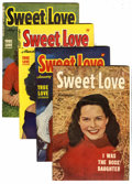 Golden Age (1938-1955):Romance, Sweet Love #2 and 3-5 File Copy Group (Harvey, 1949-50) Condition:Average VF.... (Total: 4 Comic Books)