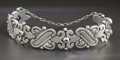 Silver & Vertu:Smalls & Jewelry, A MEXICAN SILVER BRACELET. Héctor Aguilar, Taxco, Mexico, circa 1940. Marks: HA, 940, TAXCO. 7 inches long (17.8 cm). 3....