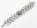 Silver Smalls:Other , A MEXICAN SILVER AND AMETHYST QUARTZ BRACELET. After WilliamSpratling, Taxco, Mexico, circa 1940. Marks: WS,SPRATLIN...