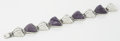 Silver Smalls:Other , A MEXICAN SILVER AND AMETHYST QUARTZ BRACELET. Made by Sanborns,Mexico City, Mexico . Design attributed to Fred Davis, circ...