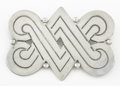 Silver Smalls:Other , A MEXICAN SILVER BROOCH. Héctor Aguilar, circa 1940. Marks: HA,STERLING, MADE IN MEXICO. 1-7/8 x 2-1/2 inches (4.8 x 6....