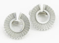 Silver Smalls:Other, A PAIR OF DANISH SILVER EARRINGS. Georg Jensen, Copenhagen,Denmark, circa 1960. Marks: GEORG JENSEN, STERLING, DENMARK,9... (Total: 2 Items)