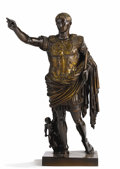 Sculpture, A Bronze Figure of Augustus Caesar. . F. Barbedienne Foundry, Paris, France. Late 19th century. Bronze. Marks: F. Barbedienn...