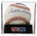 Autographs:Baseballs, Ted Williams Single Signed Baseball, PSA NM+ 7.5. Superb singlefrom the Splendid Splinter. Ball has been encapsulated by PS...