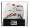 Autographs:Baseballs, Oscar Robertson Single Signed Baseball, PSA Mint+ 9.5. The Big O,one of the finest basketball talents the world has ever kn...