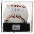 Autographs:Baseballs, Yogi Berra Single Signed Baseball, PSA Mint+ 9.5. Exceptional GemMint single from Yogi Berra is up for grabs here. Ball has...