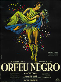 "Black Orpheus (Lux Films, 1959). French Grande (47"" X 63"")"