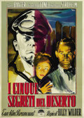 "Movie Posters:War, Five Graves to Cairo (Paramount, R-1952). Italian 2 - Folio (39"" X55""). ..."