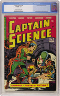 Golden Age (1938-1955):Science Fiction, Captain Science #4 (Youthful Magazines, 1951) CGC VF/NM 9.0 Cream to off-white pages....