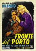 "Movie Posters:Drama, On the Waterfront (Columbia, R-1960). Italian 2 - Folio (39"" X55""). ..."