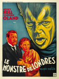 """Movie Posters:Horror, Werewolf of London (Universal, 1935). French Grande (47"""" X 63""""). ..."""
