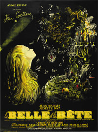 """Beauty and the Beast (DisCina, R-1951). French Grande (47"""" X 63"""")"""