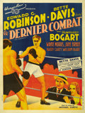"Movie Posters:Crime, Kid Galahad (Warner Brothers, 1937). French Grande (47"" X 63""). ..."