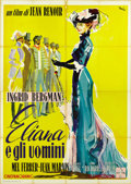 """Movie Posters:Foreign, Paris Does Strange Things (Warner Brothers, 1956). Italian 4 - Folio (55"""" X 78""""). ..."""