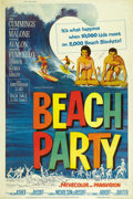 "Movie Posters:Comedy, Beach Party (American International, 1963). Autographed Poster (40""X 60""). ..."