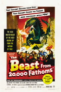 """Movie Posters:Science Fiction, The Beast From 20,000 Fathoms (Warner Brothers, 1953). One Sheet(27"""" X 41""""). ..."""