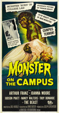 "Movie Posters:Horror, Monster on the Campus (Universal International, 1958). Three Sheet(41"" X 81""). ..."
