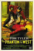 "Movie Posters:Serial, The Phantom of the West (Mascot, 1931). One Sheet (27"" X 41"").Chapter 8 -- ""The House of Hate."" ..."
