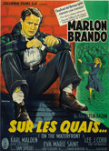 "Movie Posters:Drama, On the Waterfront (Columbia, 1954). French Grande (47"" X 63""). ..."