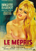"Movie Posters:Drama, Le Mepris (Cocinor, 1963). French Grande (47"" X 63"")...."