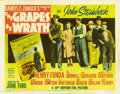 "Movie Posters:Drama, The Grapes of Wrath (20th Century Fox, 1940). Title Lobby Card (11""X 14""). ..."