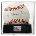 Autographs:Baseballs, Happy Chandler Single Signed Baseball, PSA NM-MT+ 8.5. ONL (White)baseball offers a strong sweet spot signature from this C...