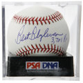 "Autographs:Baseballs, Bert Blyleven ""3,701 K's"" Single Signed Baseball, PSA Mint 9. Thisnear-perfect single announces Blyleven's inclusion in the..."