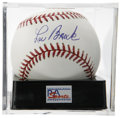 Autographs:Baseballs, Lou Brock Single Signed Baseball, PSA Gem Mint 10. Absolutelyunimprovable example of the Lou Brock single. Ball has been en...