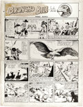 Original Comic Art:Illustrations, Harry O'Neill - Broncho Bill Sunday Comic Strip Original Art, dated5-18-41 (United Feature Syndicate, 1941)....