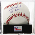 "Autographs:Baseballs, Dave Winfield ""HOF 2001"" Single Signed Baseball, PSA Gem Mint 10.The enormous Hall of Fame slugger makes note of the date o..."