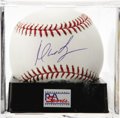 Autographs:Baseballs, Manny Ramirez Single Signed Baseball, PSA Mint 9. Manny Ramirez,2004 WS MVP, gives us this OML ball adorned with an excelle...