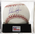 Autographs:Baseballs, Nolan Ryan Single Signed Baseball, PSA Gem Mint 10. Gem Mint singlefrom the man regarded by many as the hardest pitcher to ...