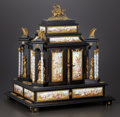 Decorative Arts, Continental:Other , A VIENNESE ENAMEL ON COPPER, GILT BRONZE AND WOOD TABLE CABINET.Maker unidentified, Vienna, Austria, circa 1875. Marks: ind...