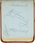 Autographs:Others, Early 1940's Baseball Autograph Book Signed by 486 Including 35 Hall of Fame Autographs....