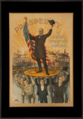 "Political:Posters & Broadsides (1896-present), William McKinley: Perhaps the Most Sought After of All ColorPolitical Lithography from This ""Golden Era.""..."