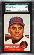 Baseball Cards:Singles (1950-1959), 1953 Topps Mike Garcia #75 SGC 96 Mint 9 - Pop 1, with NoneHigher!...