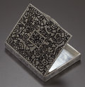 Silver Holloware, Continental:Holloware, A CONTINENTAL SILVER AND MARCASITE BOX. Maker unknown, circa 1925.Unmarked. 0-1/2 x 3-5/8 x 2-7/8 inches (1.3 x 9.2 x 7.3 c...