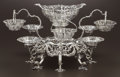Silver & Vertu:Hollowware, A GEORGE III IRISH SILVER EPERGNE. John Lloyd, Dublin, Ireland, 1772-1773. Marks: (Hibernia), (harp crowned), JL, Z. 14-3/4 ... (Total: 17 Items)